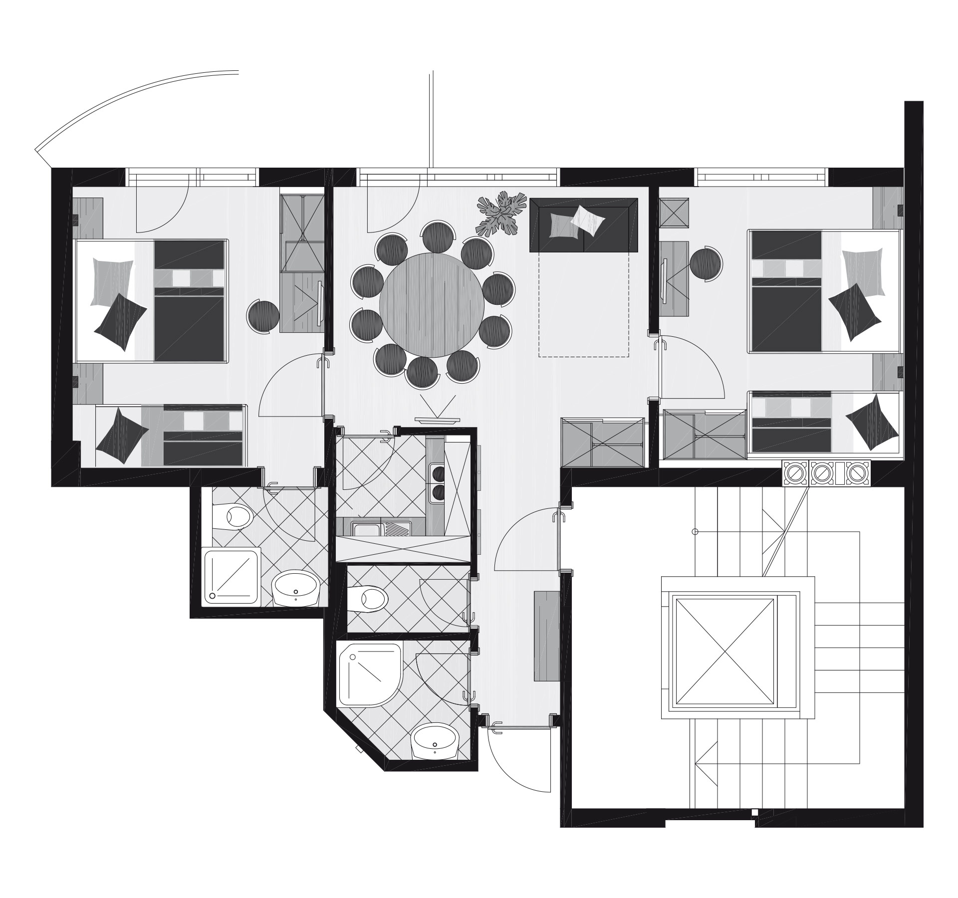 The Apartment People: Apartment 6-8 People (about 62m²)