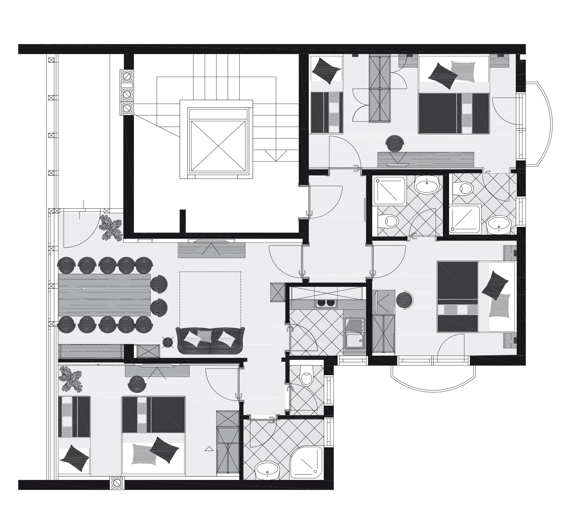 Penthouse apartment 8 10 people about 80m astellina apartments in ischgl - Lay outs penthouse ...